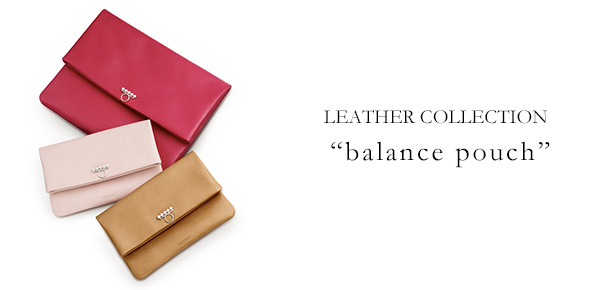 """LEATHER COLLECTION """"balance pouch""""; ?>"""